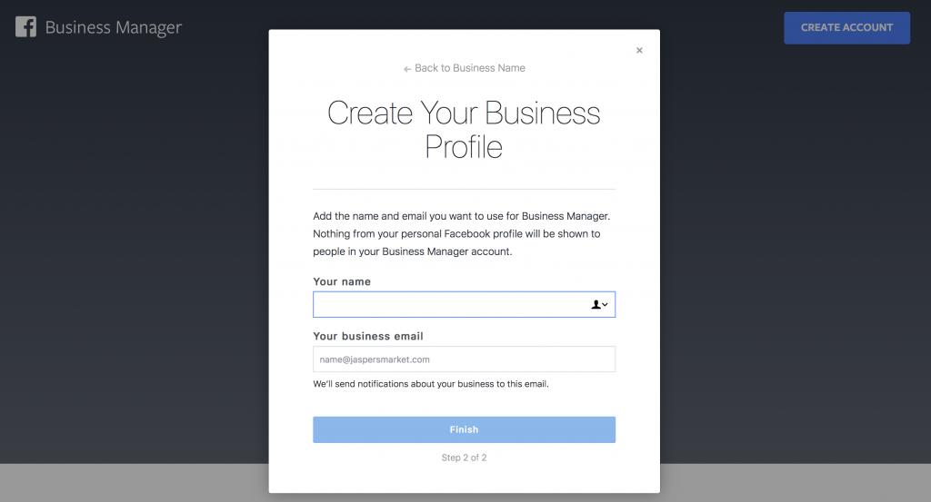 facebook business manager setup