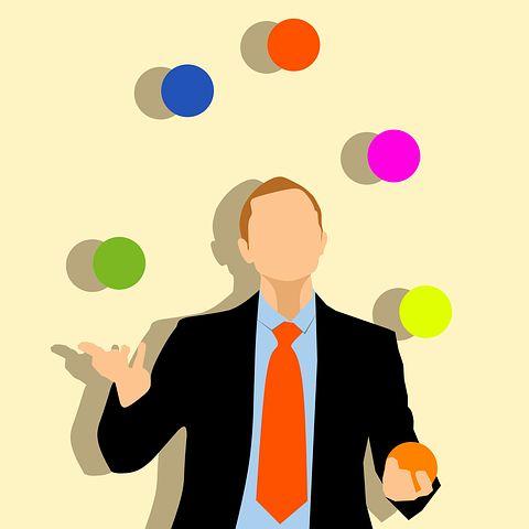 entrepreneur juggling