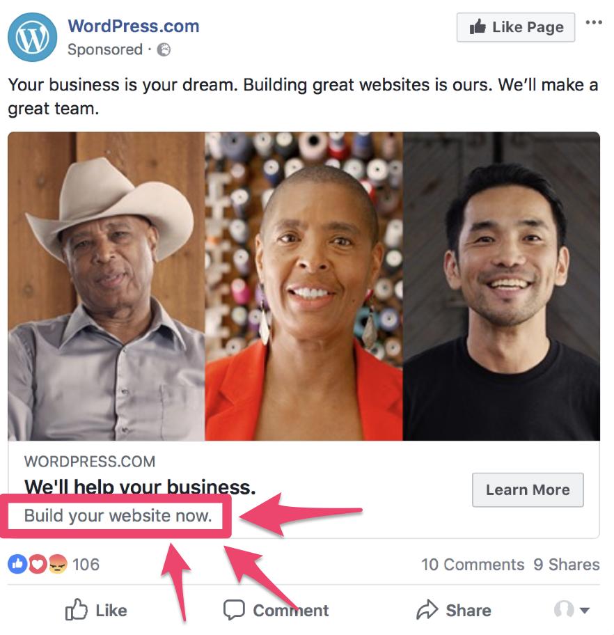 facebook ads split test description