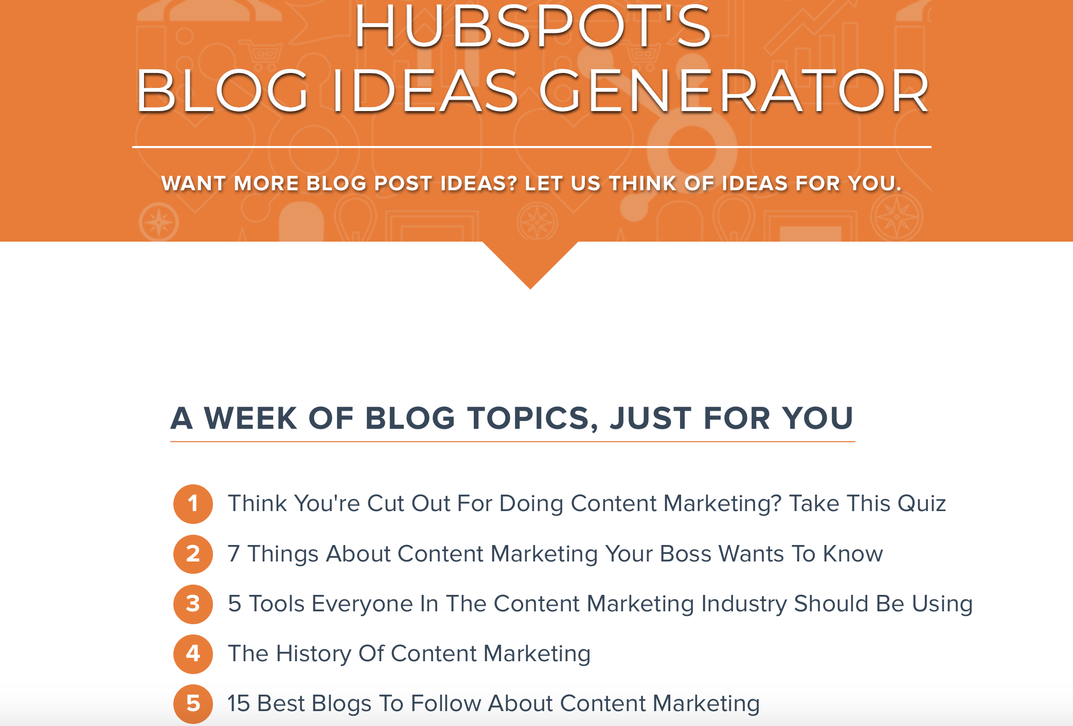 content ideas blog hubspot