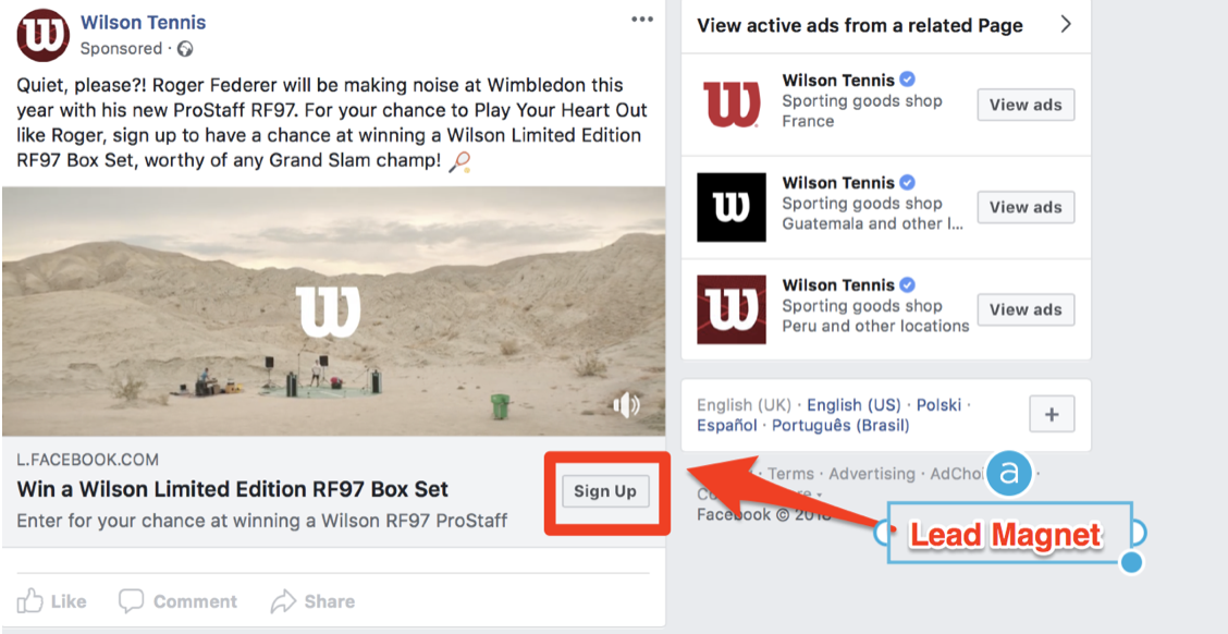 Facebook ads reverse engineering