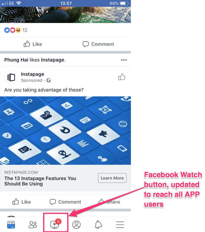 facebook watch launch marketers