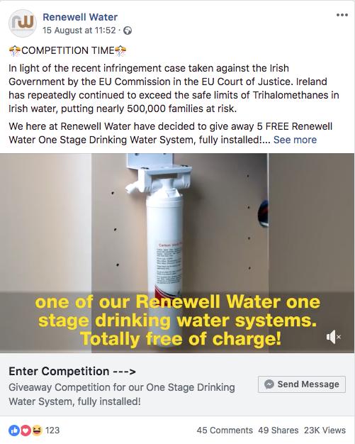 messenger marketing facebook ad