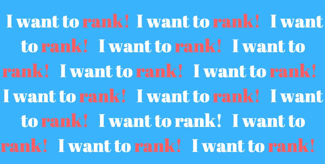 google ranking mistakes keyword stuffing