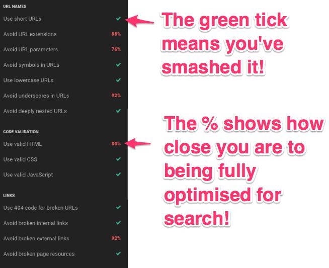 google ranking mistakes checkbot