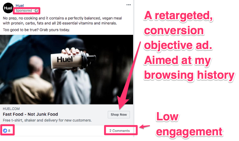 facebook ad campaign objectives conversion retargeting