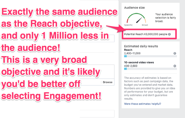 facebook ad campaign objectives guide video views
