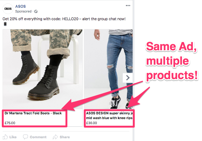 facebook ad campaign objectives catalogue sales