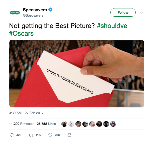 reactive content marketing specsavers