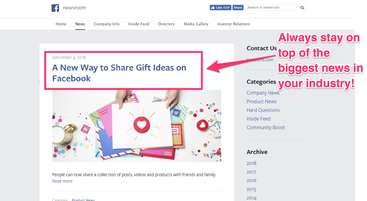 reactive content marketing facebook